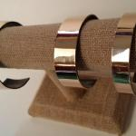 (Bronze Cuff Bracelets) - Formed and Polished by James Perkins Metal Sculpture Studios Cincinnati Ohio 513.497.2200