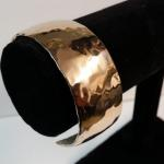 (Bronze Cuff Bracelet) - Formed - Textured - Polished by James Perkins Metal Sculpture Studios 513.497.2200